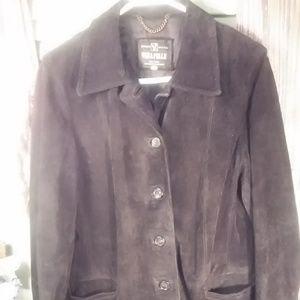 Vera Pelle vintage suede leather jacket sz 44